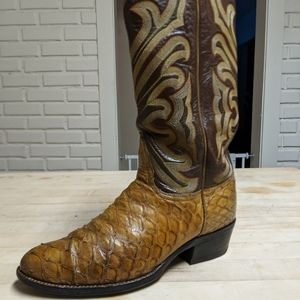1970's Black Label Tony Lama Anteaters Cowboy boot